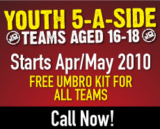 Professionally run Youth 5 a side leagues